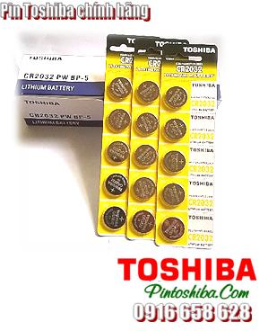 Toshiba CR2032, Pin 3v lithium Toshiba CR2032 chính hãng (Giá VND/Vỉ 5 viên)  CÒN HÀNG