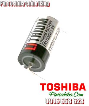 Pin Toshiba ER17330V (chân thép) lithium 3.6v size 2/3A Made in Japan