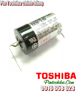 Pin Toshiba ER3V (chân thép) lithium 3.6v size 1/2AA 1000mAh Made in Japan