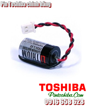 Pin Toshiba ER3V (zắc trắng) Lithium 3.6v size 1/2AA 1000mAh Made in Japan