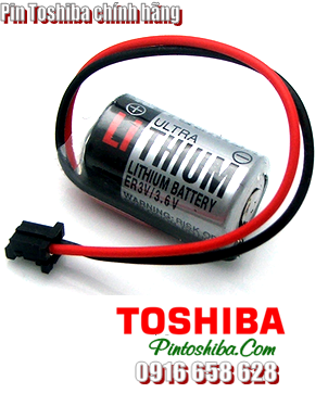 Toshiba ER3V, Pin Toshiba ER3V lithium 3.6v size 1/2AA 1000mAh Made in Japan