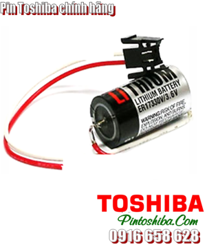 Pin Toshiba ER17330V (zắc đen) lithium 3.6v size 2/3A Made in Japan