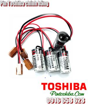 Pin Toshiba ER17330V (zắc nâu) lithium 3.6v size 2/3A Made in Japan